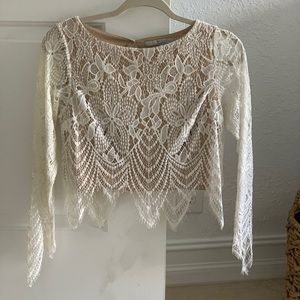Guess White Lace Top